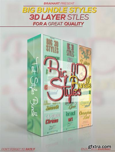 Graphicriver 3D Layer Styles Bundle 9094636