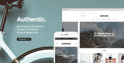 [nulled] Authentic v1.0.9 - Lifestyle Blog & Magazine WordPress Theme file