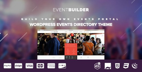 [nulled] EventBuilder v1.0.9 - WordPress Events Directory Theme product cover