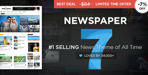 [nulled] Newspaper v7.6.1 - WordPress News Theme product picture