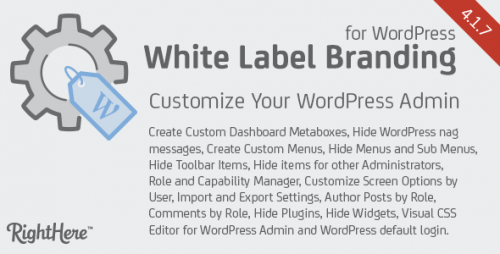 [nulled] White Label Branding for WordPress v4.1.7.7615 - Plugin