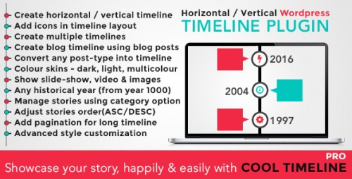 [nulled] Cool Timeline Pro v2.0.3 - WordPress Timeline Plugin Product visual