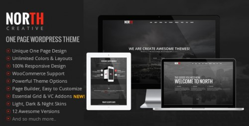 [nulled] North v3.4.0 - One Page Parallax WordPress Theme product photo