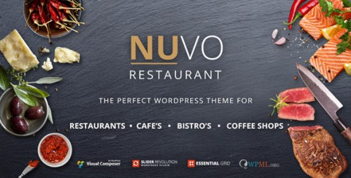 [nulled] NUVO v6.0.1 - Restaurant, Cafe & Bistro WordPress Theme product snapshot