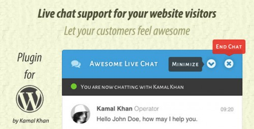 [nulled] Awesome Live Chat 1.3.10 - WordPress Plugin