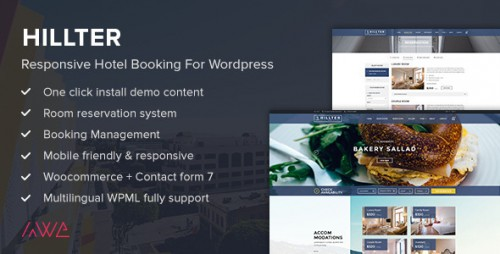 [nulled] Hillter v1.13.6 - Responsive Hotel Booking for WordPress product graphic
