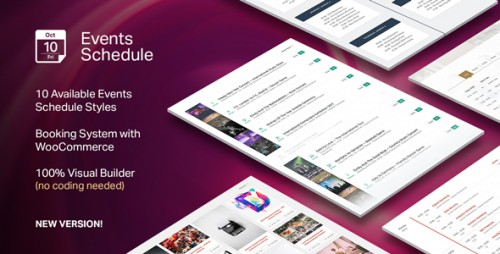 [nulled] Events Schedule v2.0.4.1 - WordPress Plugin visual