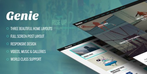 [nulled] Genie v1.2.3 - Personal Blog Theme - WordPress cover