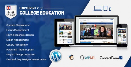 [nulled] University v1.5 - Education Responsive WordPress Themes product graphic