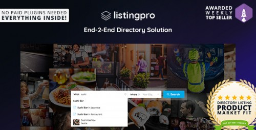[nulled] ListingPro v1.1.0 - Directory WordPress Theme product pic