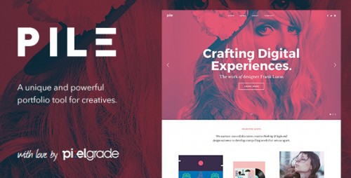 [nulled] PILE v2.1.9 - An Uncoventional WordPress Portfolio Theme product cover