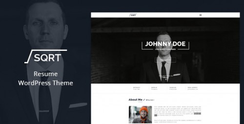 [nulled] Squareroot v2.7 - WordPress Resume Theme Product visual