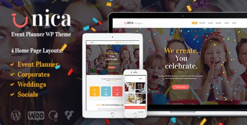 [nulled] Unica v1.1 - Event Planning Agency Theme Product visual