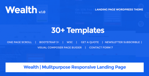 [nulled] Wealth v1.2.2 - Multi-Purpose Landing Page WordPress Theme product snapshot