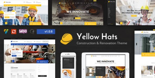 [nulled] Yellow Hats v1.0.6 - Construction, Building & Renovation Theme product snapshot