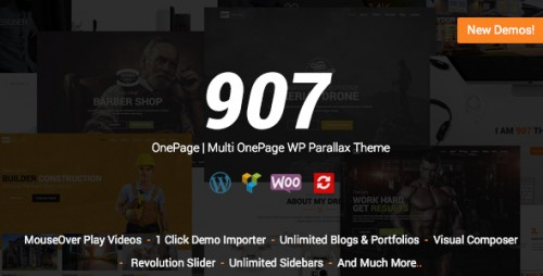 [nulled] 907 v4.0.27 - Responsive WP One Page pic