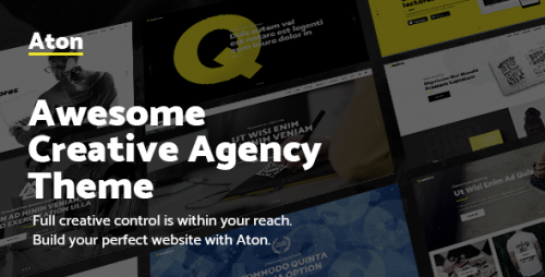 [nulled] Aton v1.1 - A Creative Theme for Modern Design Agencies product graphic