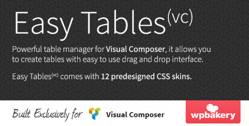 [nulled] Easy Tables v1.0.11 - Table Manager for Visual Composer