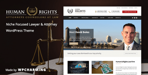 [nulled] HumanRights v1.1.4 - Lawyer and Attorney WordPress Theme product logo