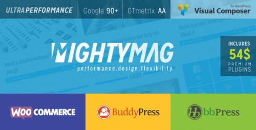 [nulled] MightyMag v2.1 - Magazine, Shop, Community WP Theme