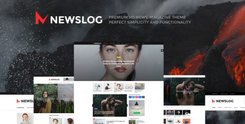 [nulled] Newslog v1.1.0 - Clean News & Magazine WordPress Theme product picture