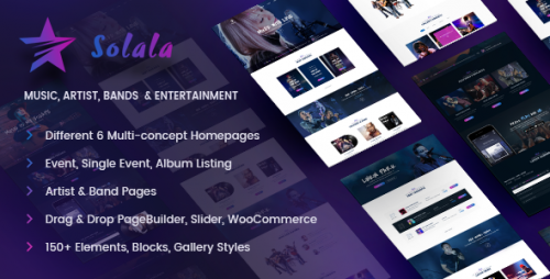 [nulled] Solala Music v3.6 - Music WordPress Theme pic