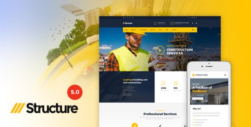 [nulled] Structure v5.0.1 - Construction WordPress Theme product picture