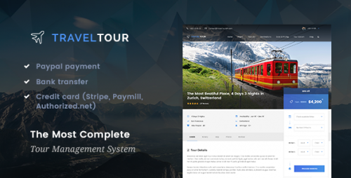 [nulled] Travel Tour 2.0.0 - Travel & Tour Booking Management System