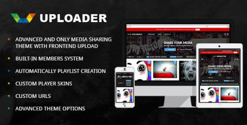 [nulled] Uploader v2.2.3 - Advanced Media Sharing Theme product graphic