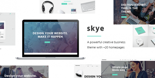 [nulled] Skye v1.5 - A Contemporary Theme for Creative Business visual