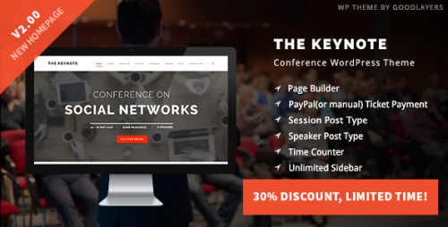 [nulled] The Keynote v2.01 - Conference  Event  Meeting Theme product picture