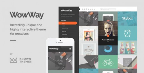 [nulled] WowWay v2.1.3 - Interactive & Responsive Portfolio Theme product image