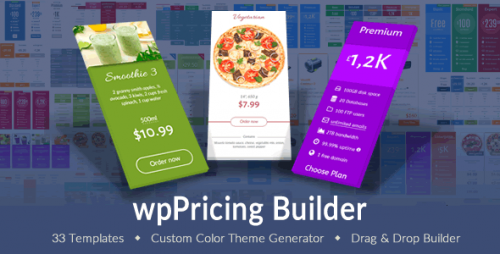 wpPricing Builder v1.4.9 - WordPress Responsive Pricing Tables product cover