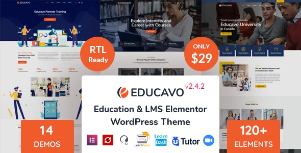 [nulled] Educavo v2.4.2 - Online Courses & Education WordPress Theme